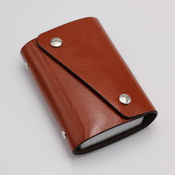 カードケース 20枚収納 全9色 磁気防止 レザー スリム カード入れ 男女兼用 kk1816|34618|14