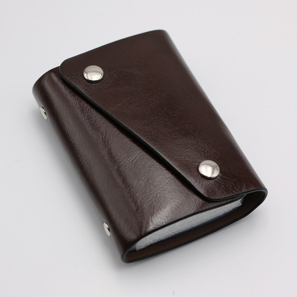 カードケース 20枚収納 全9色 磁気防止 レザー スリム カード入れ 男女兼用 kk1816|34618|15