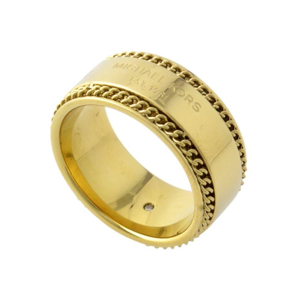 9bbd2b3a217a マイケルコース MICHAEL KORS MKJ5892710/6 Logo Plaque ロゴ&チェーン リング 指輪 実寸11.5