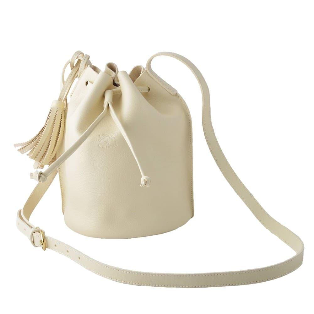 イルビゾンテ バッグ IL BISONTE A2601 864 Ivory タッセルチャーム付 ショルダーバッグ 巾着ポシェット BUCKET