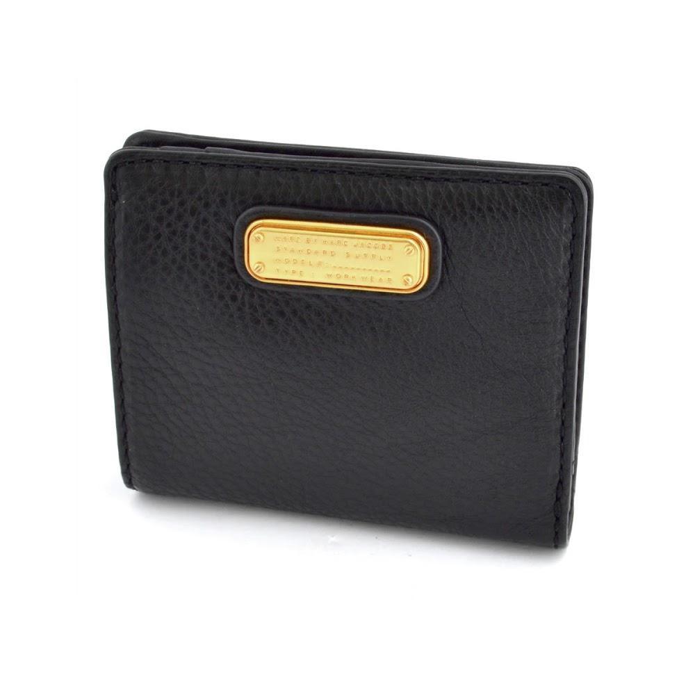 new arrival 89da6 c06ee MARC BY MARC JACOBS マークバイマークジェイコブス M0007289 001 Black New Q Emi Wallet  パスケース付 二つ折り ミニ財布