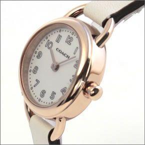 コーチ  柔らかな印象のフォルム☆小ぶりでキュートな大人カジュアル・レディス腕時計 14502117
