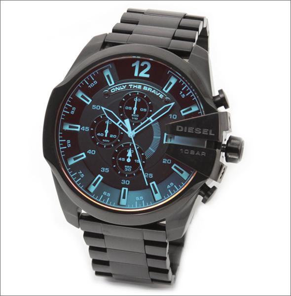 ディーゼル  メンズ 腕時計 人気のデカ系クロノグラフウオッチ  見る角度で色見が変化するホログラム・クリスタル。 DZ4318