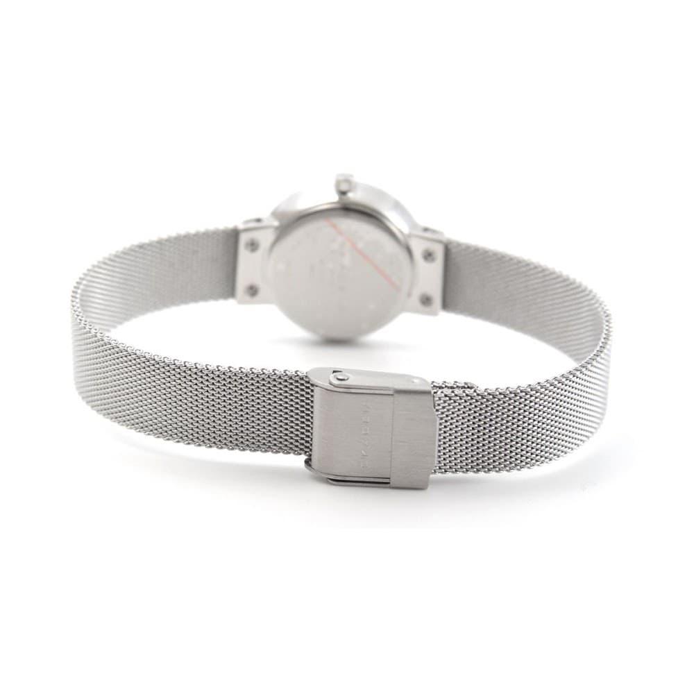 8b8a8d9f05 スカーゲン SKAGEN 456SSS レディス腕時計 LEONARA ファセットカット ラインストーンインデックス メッシュストラップ