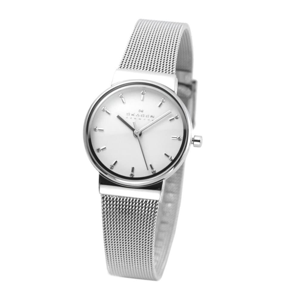 912261971b スカーゲン SKAGEN SKW2195 レディス腕時計 ラインストーンインデックス メッシュストラップ