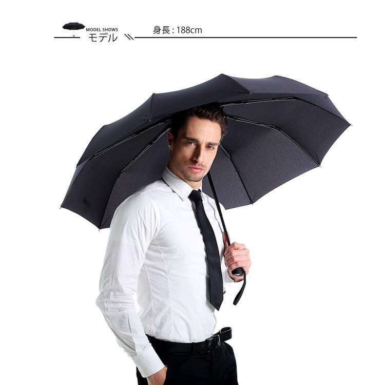 折りたたみ傘男性使用イメージ