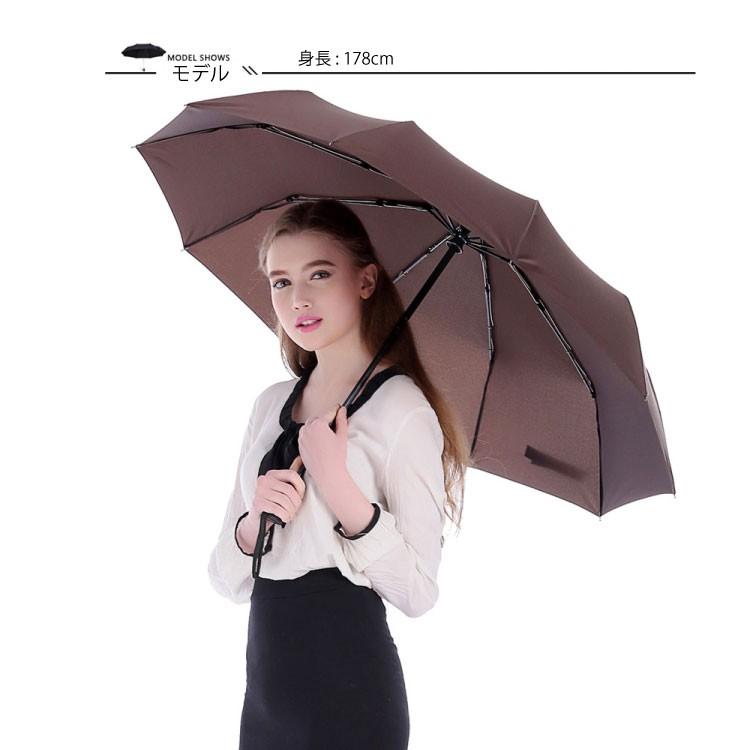折りたたみ傘女性使用イメージ