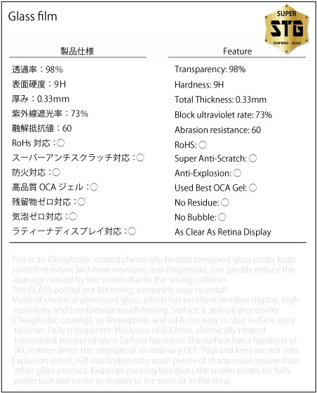 iPhone7ガラスフィルム仕様書