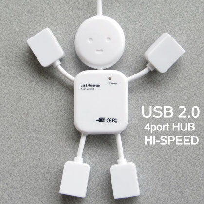 人形型ハブ4ポート