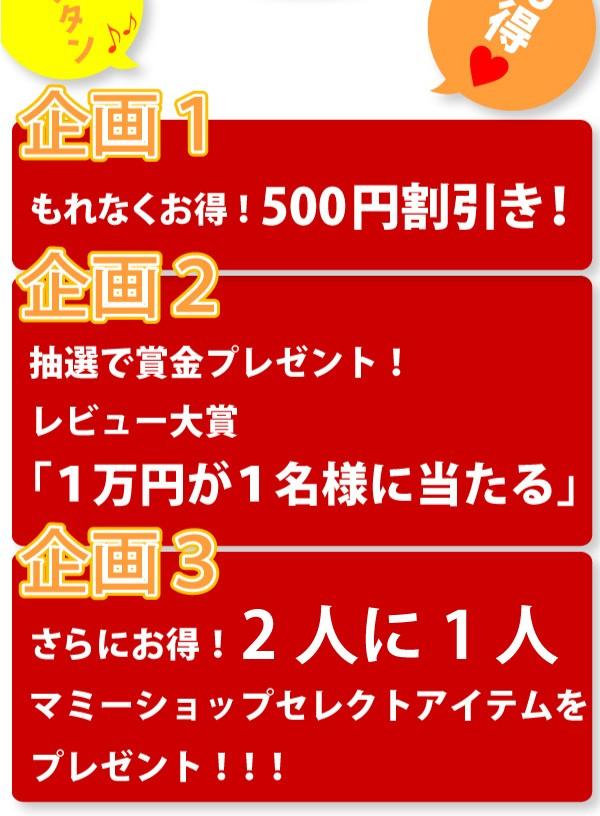 3大レビューキャンペーン