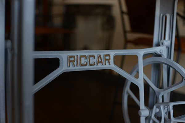 RICCAR SINGER 足踏みミシン台 テーブル 作業台 アンティーク アトリエ デスク オシャレ おしゃれ