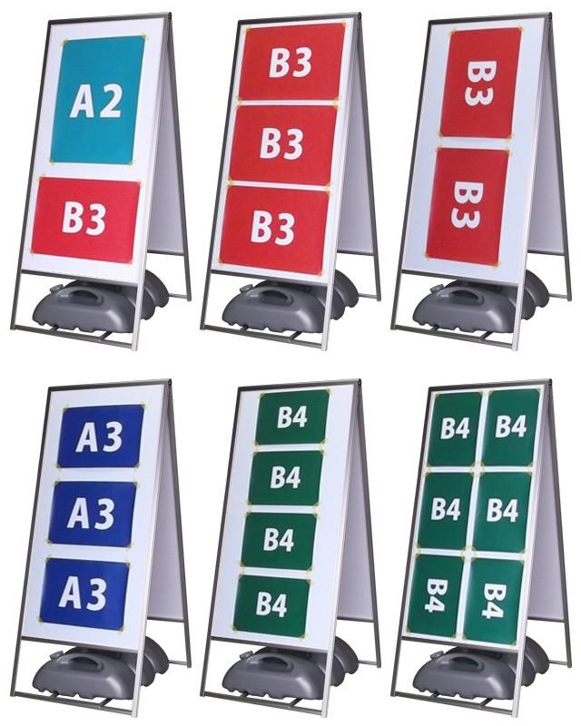アルミ枠A型スタンド看板L使用例
