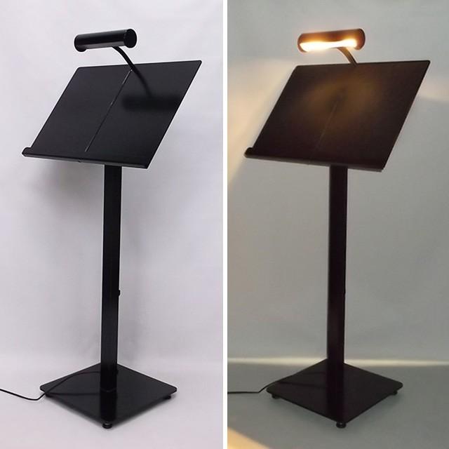 LEDライト付きメニュースタンド(置き型)点灯