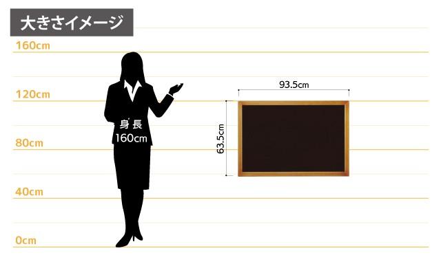 高級マーカーボード女性とのサイズ比較