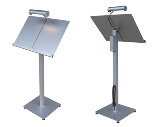 LEDライト付きメニュースタンド(置き型)シルバー