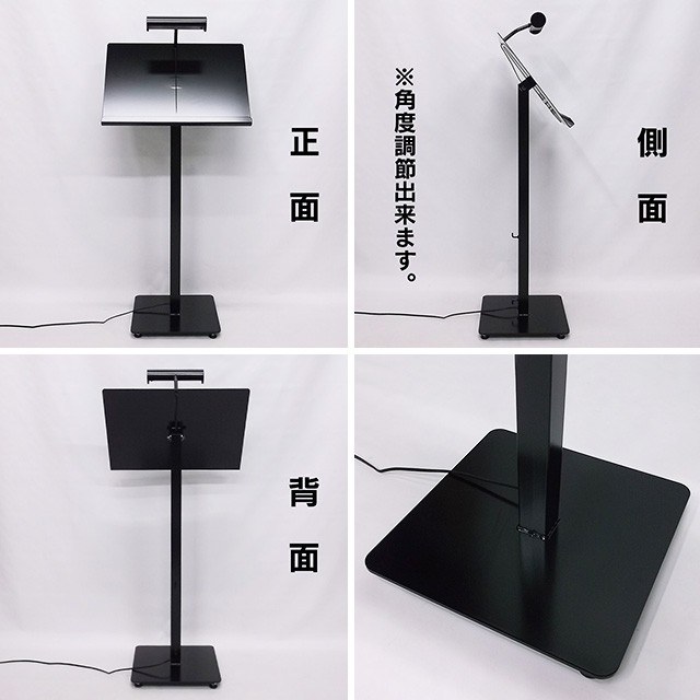 LEDライト付きメニュースタンド(置き型)写真
