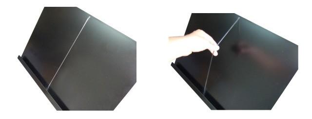 LEDライト付きメニュースタンド(置き型)構造2