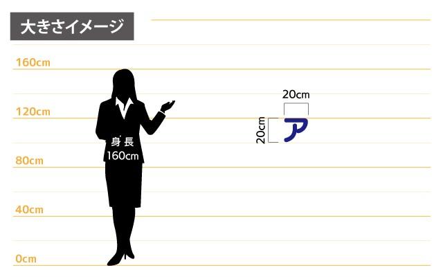 カルプ文字(中)大きさイメージ