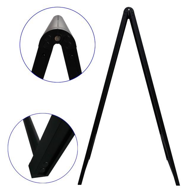 白黒A型スタンド看板ブラック写真