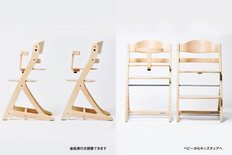 すくすくチェア,スクスクチェア,sukusuku,ベビーチェア,ハイチェア,木製チェア,子供用チェア,定番の形