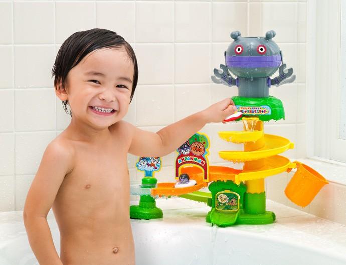 お風呂のおもちゃ アンパンマンとだだんだん ジャバジャバおふろスライダー