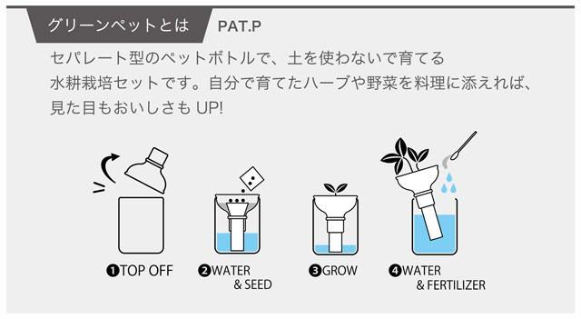 『栽培セット』 育てるグリーンペットベジ003