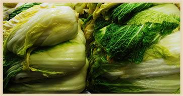 ホソヅケの漬物、食品は手づくりを基本としています。大量の野菜のカットも、漬物のカットも、計量も、パッケージへ詰めも…野菜の漬け込みや水洗いも、夏冬、季節を問わず手作業で。冬の冷水は手を麻痺させます。フロアから上がる冷気も体を冷やします。でも、これがホソヅケ流。野菜をきりっとさせるために欠かせません。野菜や漬物のカットも、作り手みんなが熟達しているからこそ、手切りにゆだねています。欠かさず手入れした包丁で、すばやくカットしていくから、味わいを損ねません。こうしたやり方は効率第一主義とはかけ離れていて時には非効率とも言えるかもしれません。でも、ホソヅケは脈々と継承してきたこのやり方を続けていきたいと思っています。それは、「手づくり」をうたう当店の商品に命を吹き込む方法の一つだと作り手みなが信じているからです。