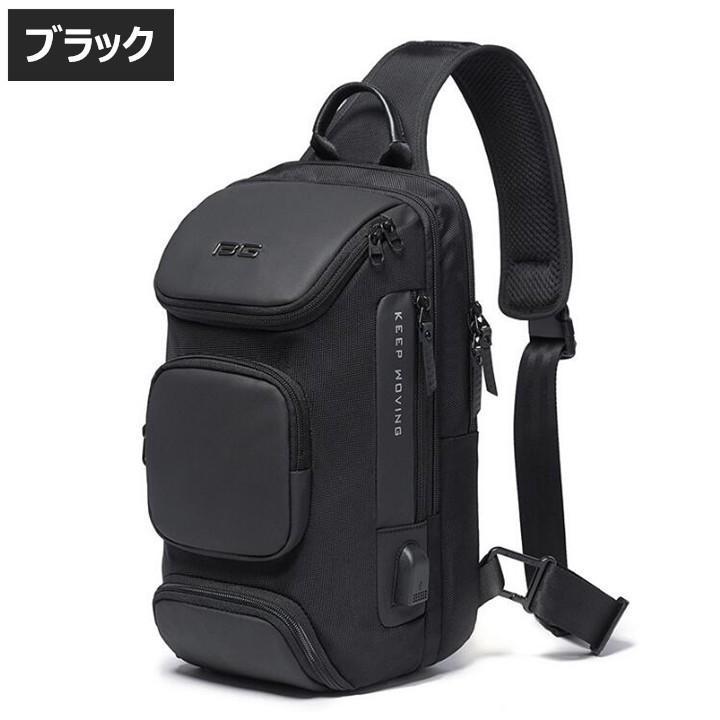 ボディバッグ 大容量 ショルダーバック USB シンプル メンズ 鞄 かばん ボディーバッグ ワン ショルダーバッグ 通勤 旅行 社会人 学生 高校生|8787-store|15