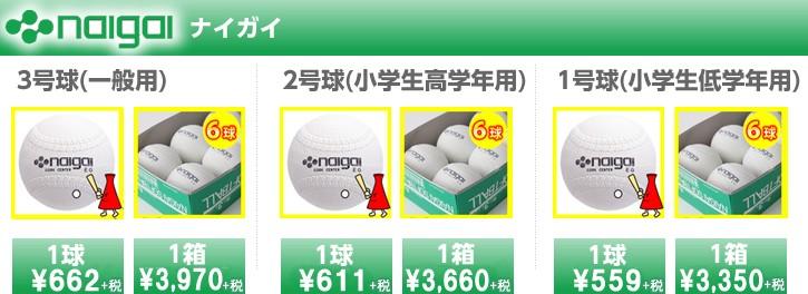 ソフトボール・ゴム・ホワイト/ナイガイボールが大特価