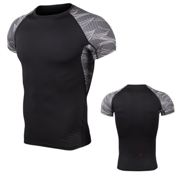 コンプレッションウェア 半袖 メンズ Tシャツ スポーツウェア スポーツシャツ 夏 インナー 加圧シャツ アンダー トレーニングウェア セール|99mate|27