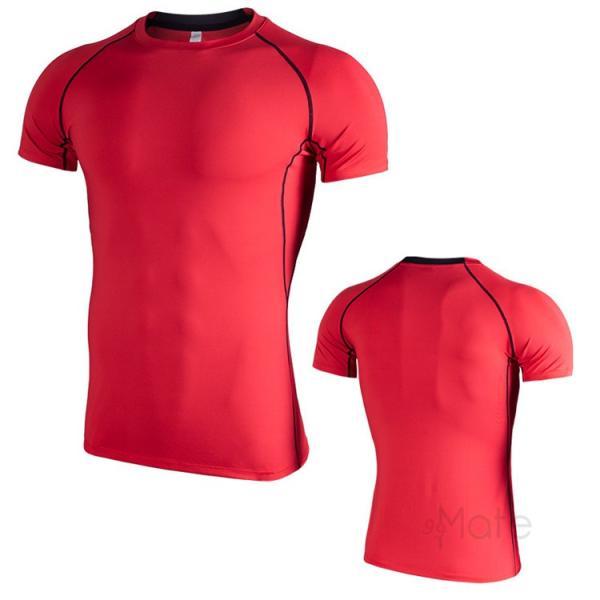 コンプレッションウェア 半袖 メンズ Tシャツ スポーツウェア スポーツシャツ 夏 インナー 加圧シャツ アンダー トレーニングウェア セール|99mate|21