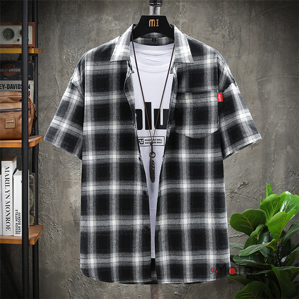 チェックシャツ メンズ トップス 半袖シャツ ネルシャツ カジュアルシャツ 薄手シャツ 半袖 ルームウェア お兄系 ゆったり 2019夏 セール|99mate|16