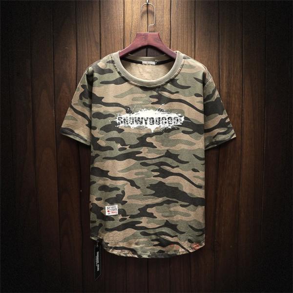 半袖 ティーシャツ メンズ 迷彩柄 Tシャツ カジュアル 半袖Tシャツ プリントTシャツ お兄系 おしゃれ 夏新作|99mate|15