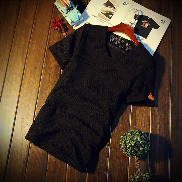 カジュアルTシャツ メンズ 半袖 Tシャツ ティーシャツ 無地 半袖Tシャツ Vネック かっこいい 夏新作 送料無料|99mate|18