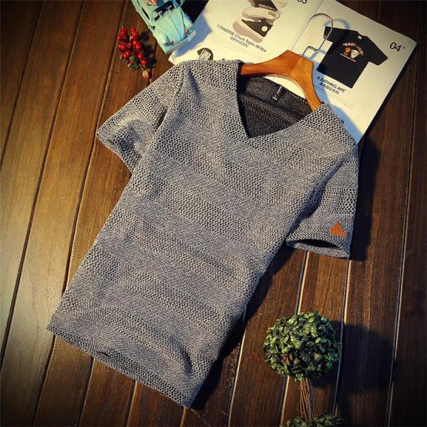 カジュアルTシャツ メンズ 半袖 Tシャツ ティーシャツ 無地 半袖Tシャツ Vネック かっこいい 夏新作 送料無料|99mate|15