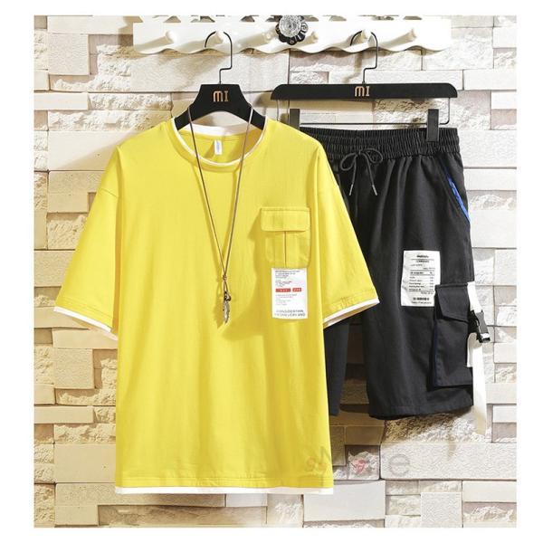 上下セット メンズ 半袖 Tシャツ スポーツウェア ショートパンツ セットアップ 部屋着 カジュアル ジャージ 夏新作|99mate|14