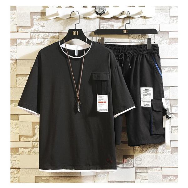 上下セット メンズ 半袖 Tシャツ スポーツウェア ショートパンツ セットアップ 部屋着 カジュアル ジャージ 夏新作|99mate|13