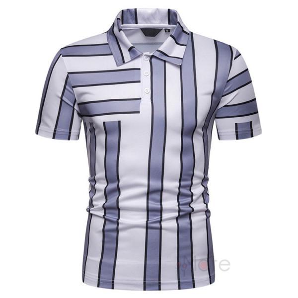 ポロシャツ メンズ ゴルフウェア 半袖ポロ POLO Tシャツ トップス カットソー 無地 通勤 新作 スリム 2019夏 99mate 13