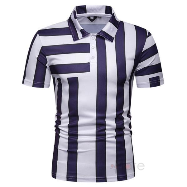 ポロシャツ メンズ ゴルフウェア 半袖ポロ POLO Tシャツ トップス カットソー 無地 通勤 新作 スリム 2019夏 99mate 14