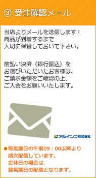 3.受注確認メール