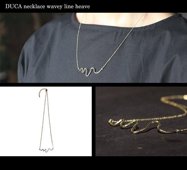 DUCA necklace wavey line heave
