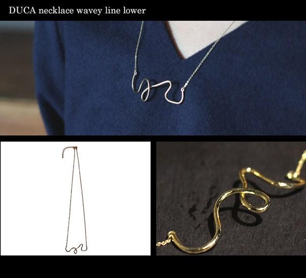 DUCA necklace wavey line lower