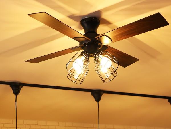 シーリングファンライト フィラメント LED
