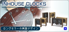 INHOUSE 掛け時計・置き時計