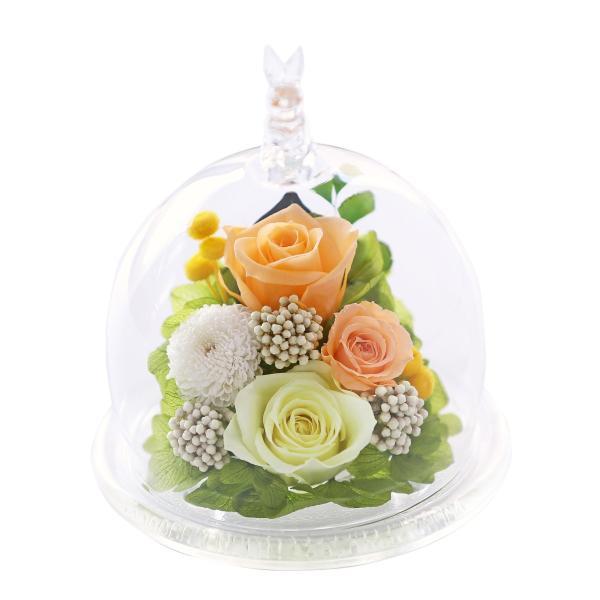 母の日 うさぎ光るバラホタル プリザーブドフラワー 誕生日プレゼント ギフト 還暦祝い 退職祝い 女性 結婚記念日 バラ ギフト|a4s|22