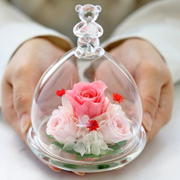 ベアーアイ光るバラホタル 結婚記念日 プリザーブドフラワー バラ 誕生日プレゼント 結婚祝い 還暦祝い 女性 ギフト プレゼント|a4s|18