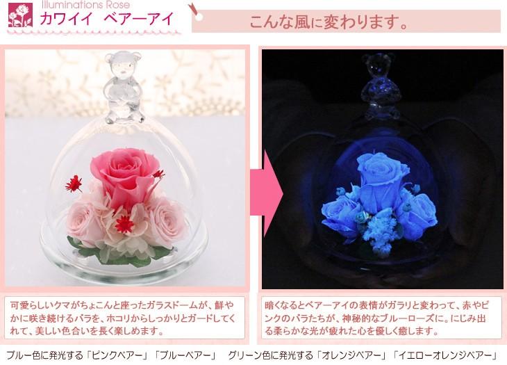 光るバラ - こんな風に変わります。