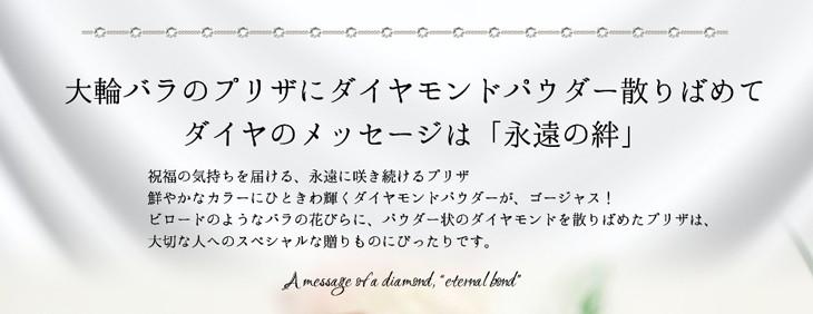 ダイヤのメッセージは「永遠の絆」