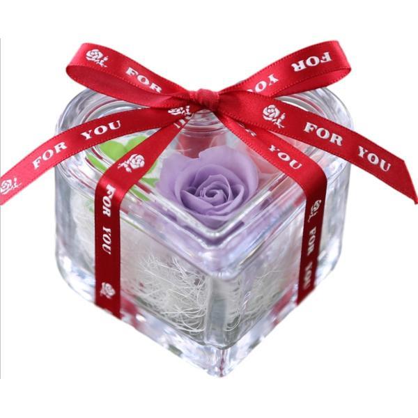 ハート ホタル 四つ葉のクローバー入り ホワイトデー Whiteday 2019 還暦祝い 結婚記念日 プリザーブドフラワー バラ 退職祝い 女性 誕生日プレゼント|a4s|15
