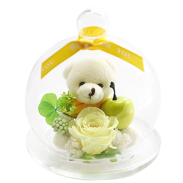 ベアアップル プリザーブドフラワー バラ 誕生日プレゼント 退職祝い 結婚記念日 還暦祝い 女性 プレゼント ギフト|a4s|14